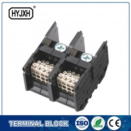 (300A)Din rail type Single phase Two inlet,multi-outlet connection terminal block for metering box
