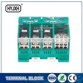 tipo canaleta DIN terminal de conexión de catro fíos trifásico