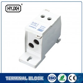 FJ6S-1 dua inlet multi-gerai DIN jenis rel blok terminal koneksi (rumit jenis) kawat inlet: 10-35 mm persegi