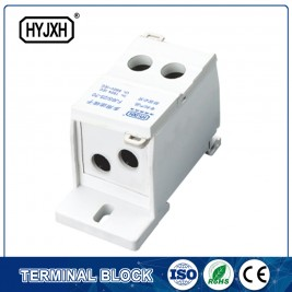 FJ6S-1 two-inlet multi outlet DIN rail  type  connection terminal block(elaborate type)inlet wire :25-70 mm sq inlet wire :10-35 mm sq