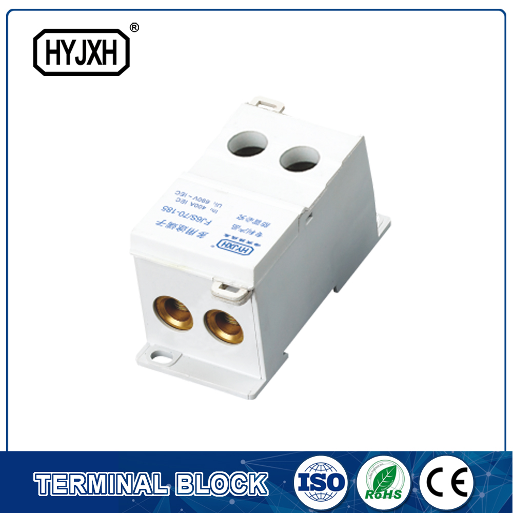 FJ6S-1 two-inlet multi outlet DIN rail  type  connection terminal block(elaborate type)inlet wire :50-120 mm sq