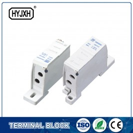 FJ6SF-2 series two-inlet multi-outlet DIN rail connection terminal block(elaborate type)inlet wire :6-25 mm sq