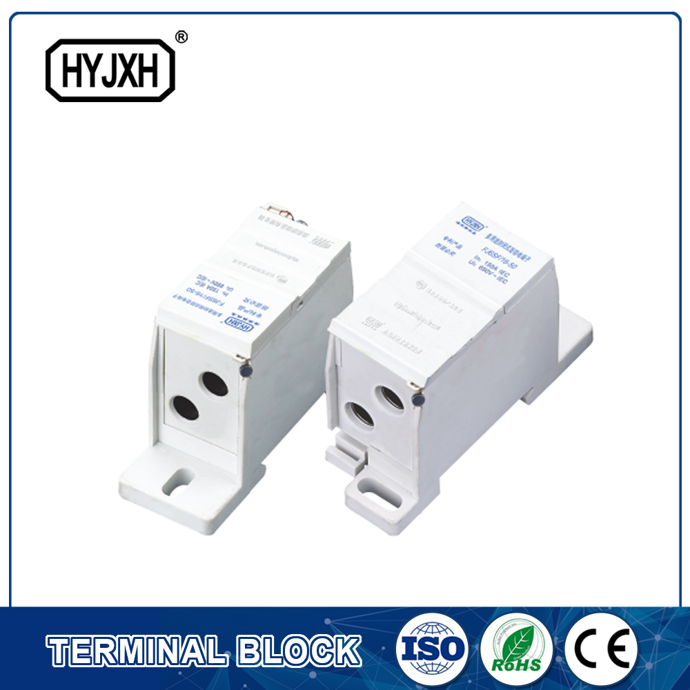 FJ6SF-2 series two-inlet multi-outlet DIN rail connection terminal block(elaborate type)inlet wire :10-35 mm sq