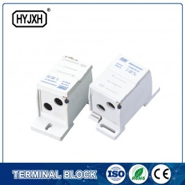 FJ6SF-2 series two-inlet multi-outlet DIN rail connection terminal block(elaborate type)inlet wire :25-70 mm sq