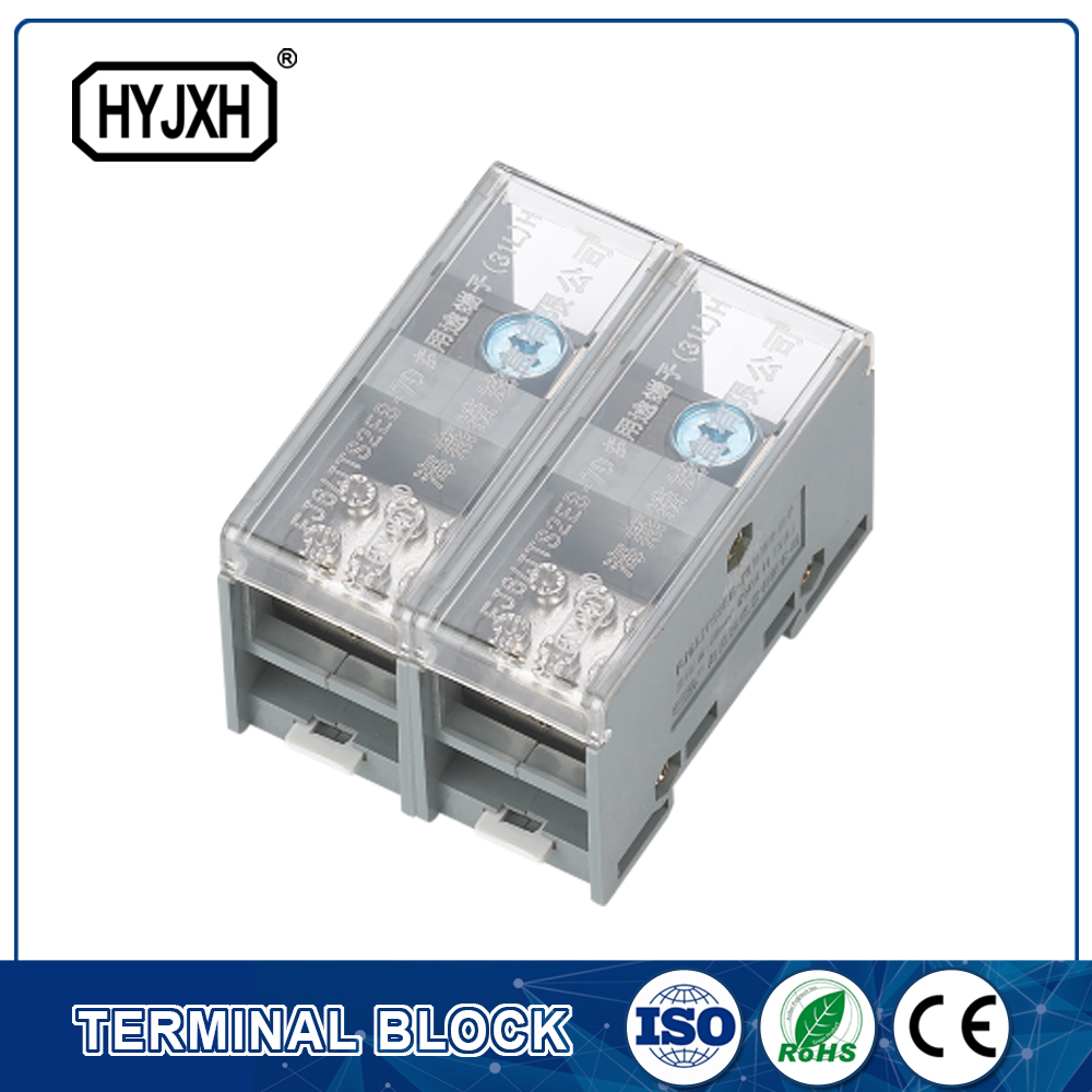 FJ6-JTS2EB Single phase DIN rail type connection terminal   max inlet wire :70 mm sq