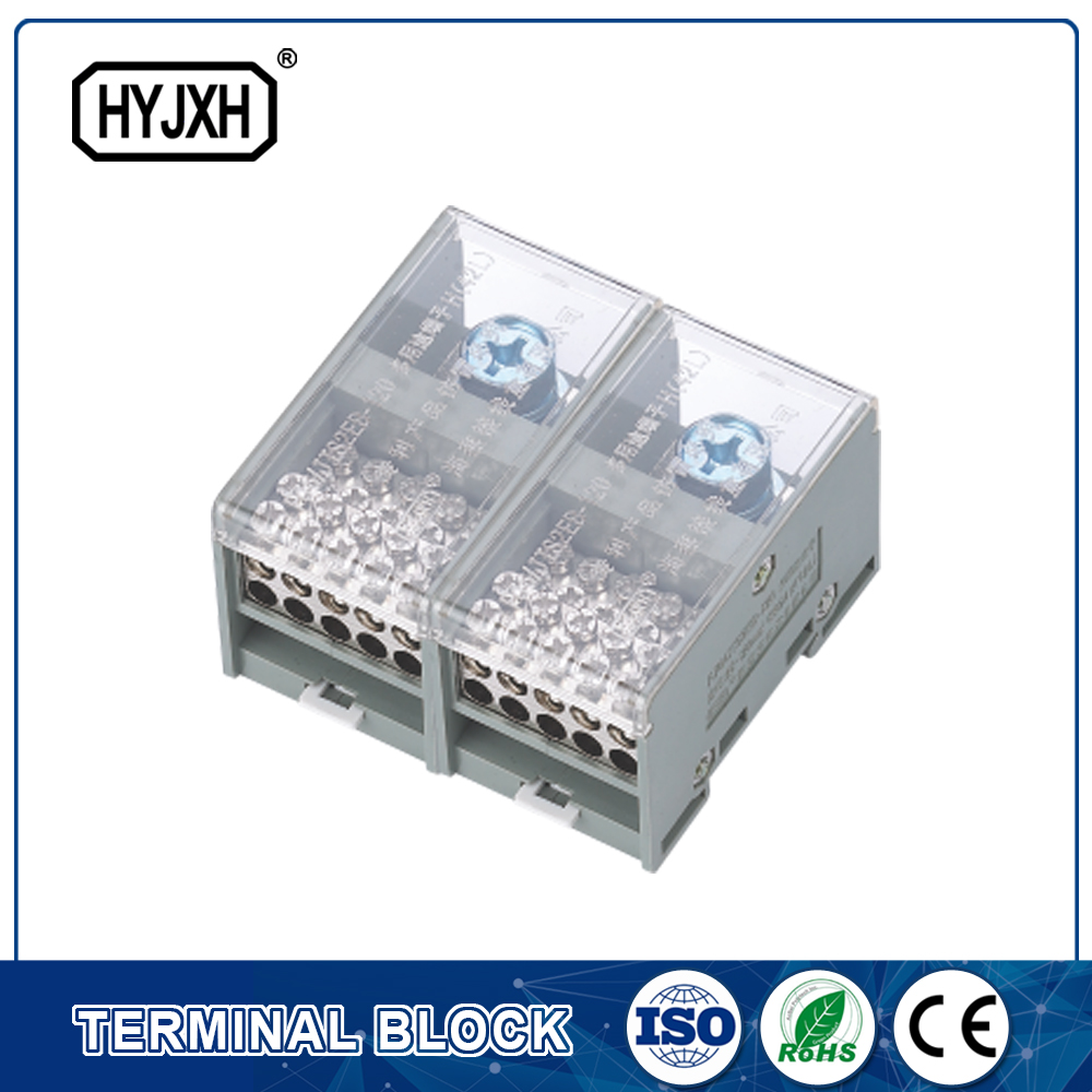 FJ6-JTS2EB Single phase DIN rail type connection terminal   max inlet wire :120,150 mm sq