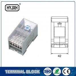 FJ6-JTS2EB Single pole DIN rail type connection terminal  max inlet wire :120,150 mm sq