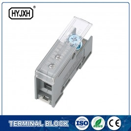 FJ6-JTS2EB Single pole DIN rail type connection terminal(Three inlet)  max inlet wire :25 mm sq