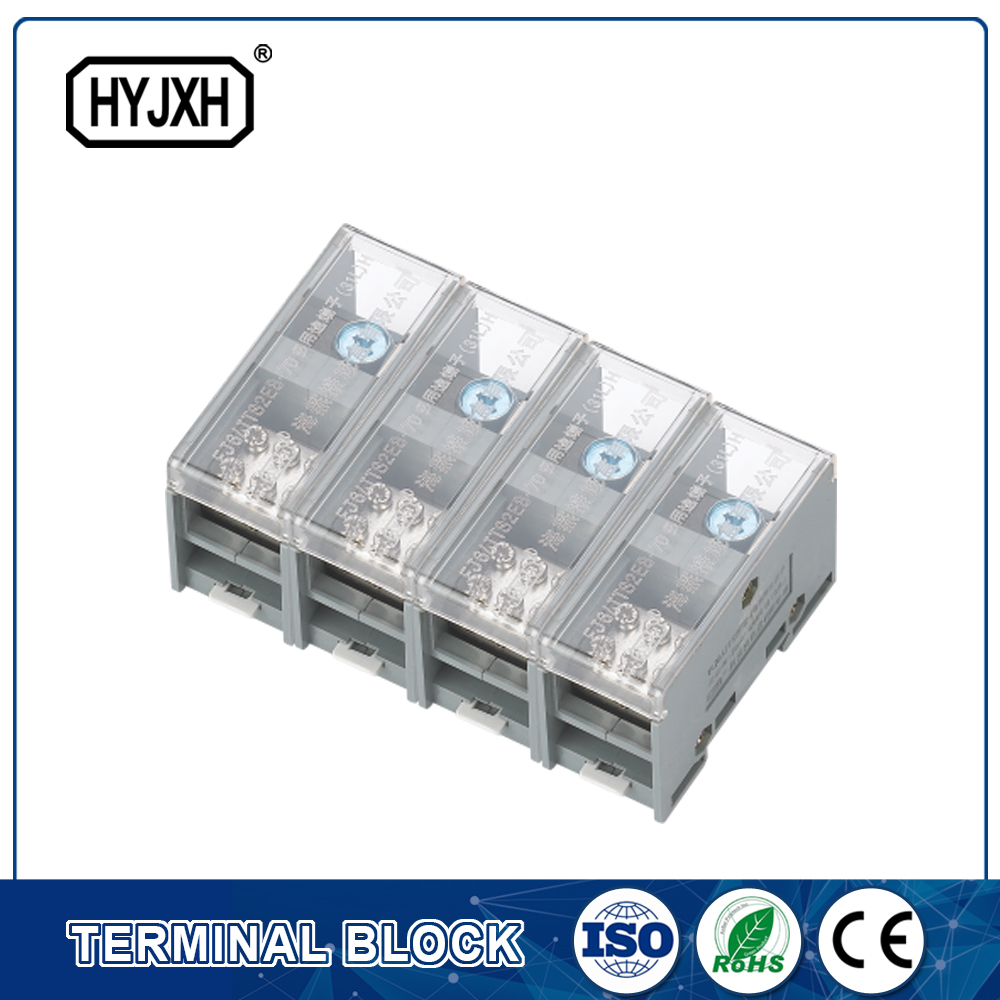 FJ6-JTS2EB Three Phase four Wire DIN rail type connection terminal max inlet wire :70 mm sq