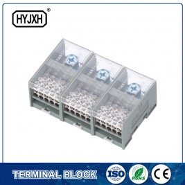 FJ6-JTS2EB Three Phase Three Wire DIN rail type connection terminal    max inlet wire :120,150mm sq