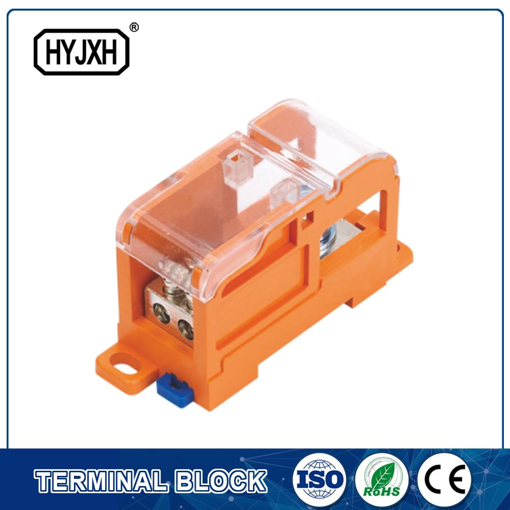 DIN rail type Multi-purpose terminal block, Max inlet diameter 70 SQMM(connect nasal type)