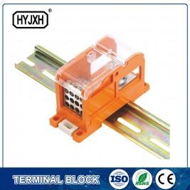 Factory Supply Twin Cord End Cable Terminal Lug - DIN rail type Multi-purpose terminal block, Max inlet diameter 95 SQMM(connect nasal type) – Haiyan Terminal
