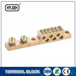 Double row zero line copper terminal