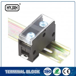 Din rail type combination one-inlet multi-outlet connection terminal block