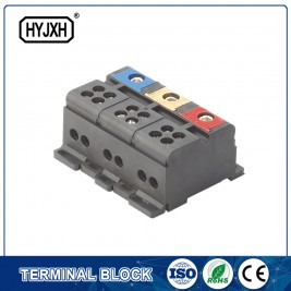 Din rail type three phase Color separation connection terminal block for measuring box
