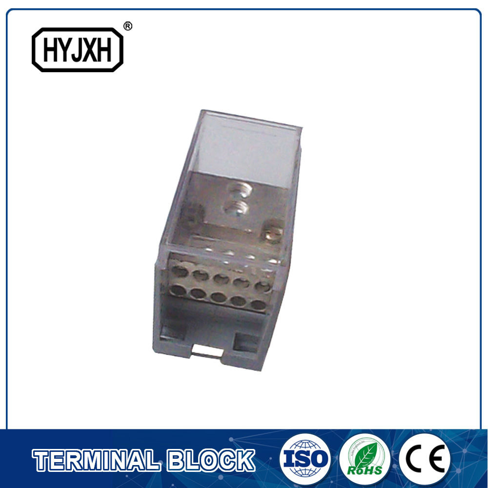 One-inlet ten-outlet connection terminal block