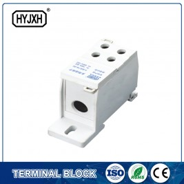 FJ6S-1 one-inlet multi outlet DIN rail  type  connection terminal block(elaborate type) inlet wire :16-50 mm sq