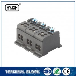 Wholesale Dealers of Abs Plastic Enclosure - din rail type three phase Color separation connection terminal block for measuring box p299-p305 – Haiyan Terminal