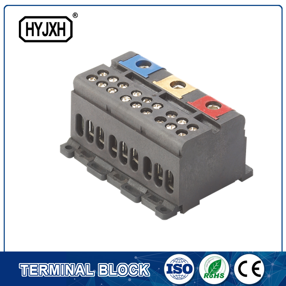 din rail type three phase Color separation connection terminal block for measuring box p292-p298