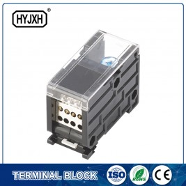 Discount wholesale Electrical Ul Handy Box - din rail type single pole connection terminal block for metering box – Haiyan Terminal