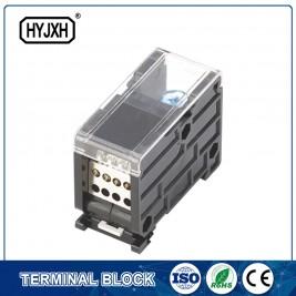 din tipus de carril de pol únic bloc de terminals de connexió per a la caixa de mesurament